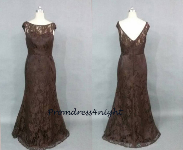 brown mother of the bride dress lace dress brown lace dress v back mother of the bride dress long mother of the bride dress elegant mother of the bride dress