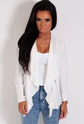 jacket,white,panel,zip