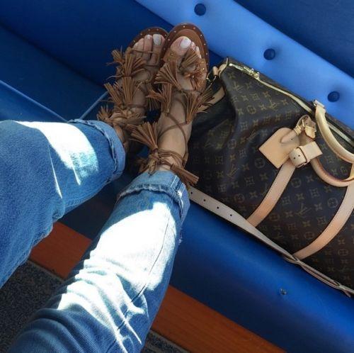 7953db2d6dd brand new zara brown tan leather roman gladiator sandals tassel flat ...
