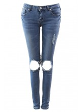 Torn Knee Skinny Jeans - Jeans - Bottoms - Clothing