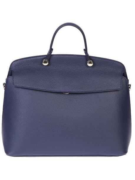 Furla bag leather bag leather blue