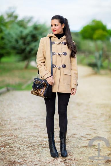 duffle coat bag blogger crimenes de la moda camel