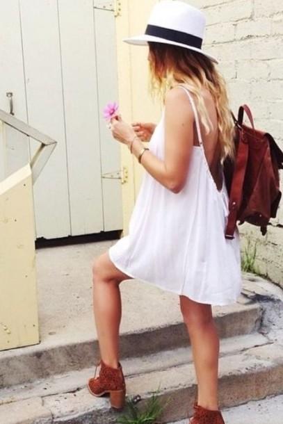 dress backless dress white dress