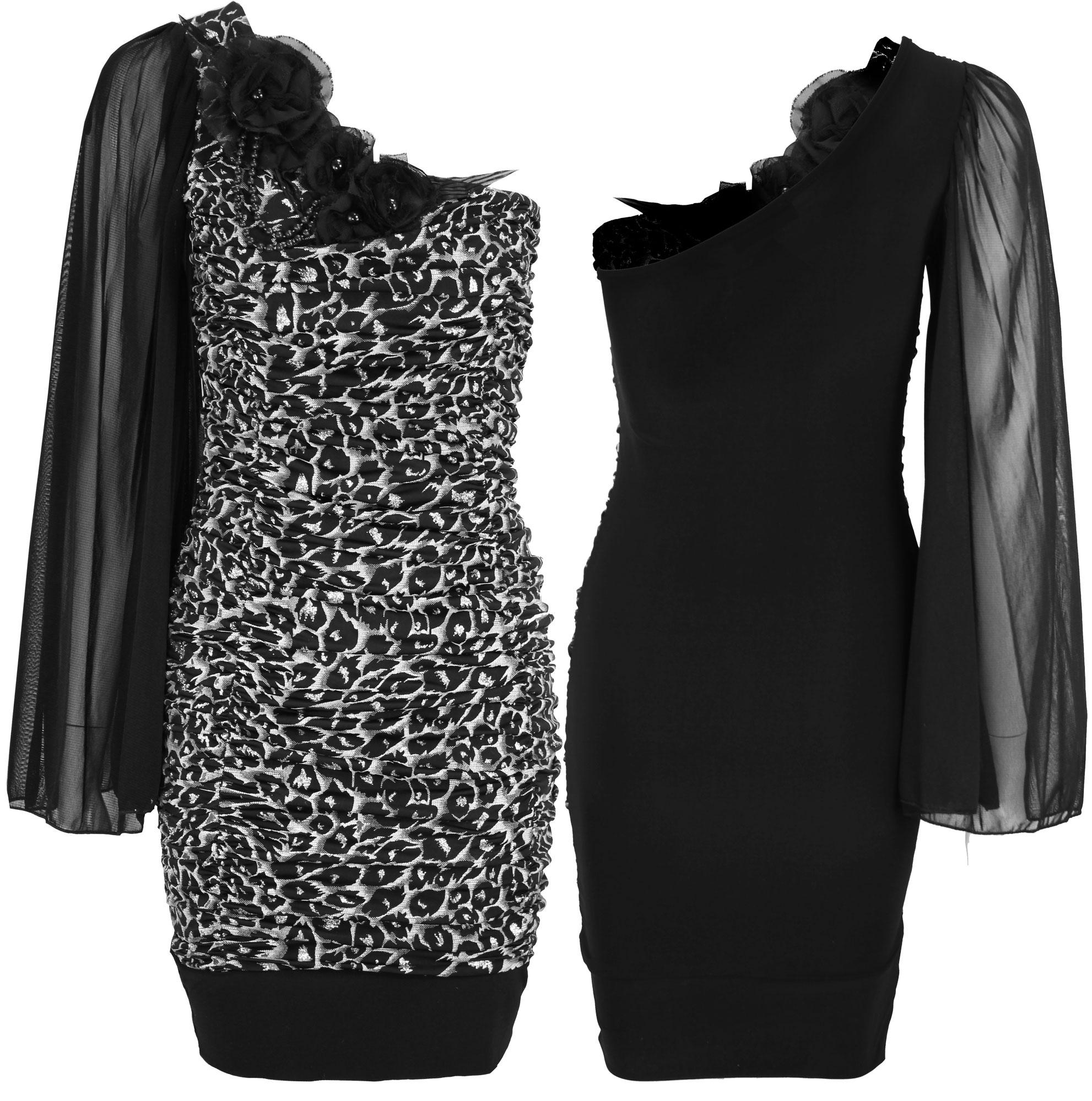 WOMENS ONE SHOULDER SIDE DRAPE DRESS LADIES RUCHED BODYCON | eBay