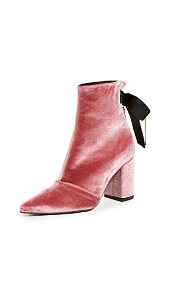 Robert Clergerie booties lace pink shoes