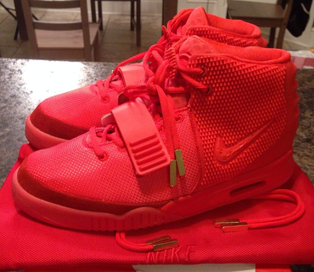 Nike Air Yeezy 2 Red October SP Size 11 Plats Solar Ro II Super Perfect | eBay