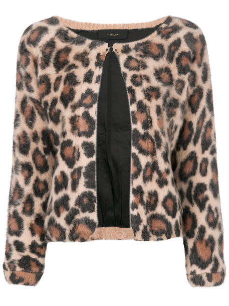 Lédition cardigan cardigan women animal nude print animal print sweater