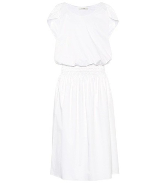 The Row dress cotton white
