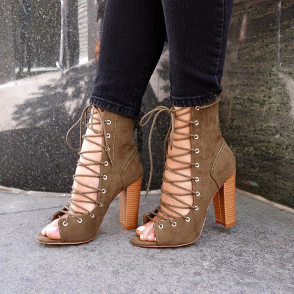 729ac00ad577e0 shoes lace-up booties lace-up ankle booties lace up sandals cute booties  lace