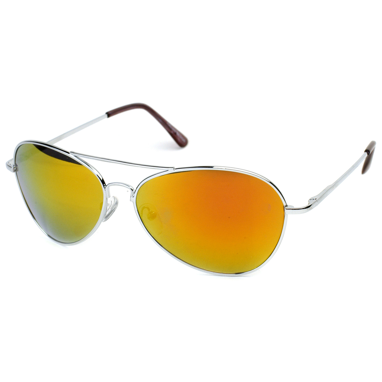 Retro Revo Color Mirrored Lens Metal Aviator Sunglasses 1485