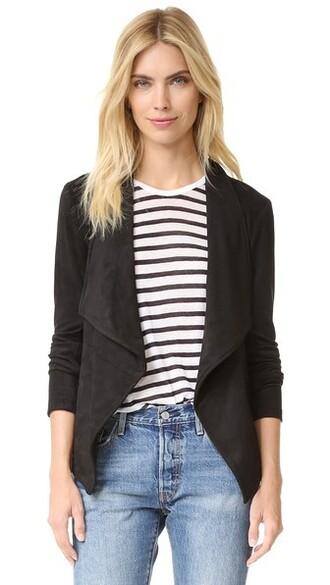 jacket suede jacket suede black