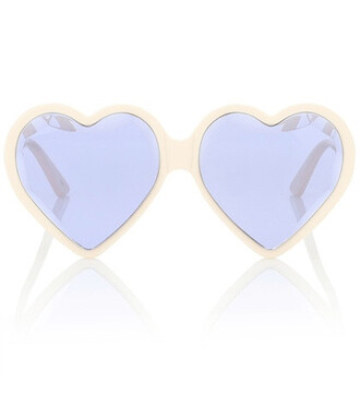 heart sunglasses white