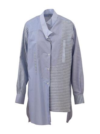 shirt blue shirt oversized blue top