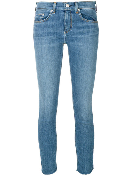Rag & Bone /Jean jeans skinny jeans cropped women cotton blue