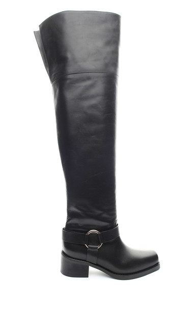 RED Valentino Over-the-knee Leather Boots in nero
