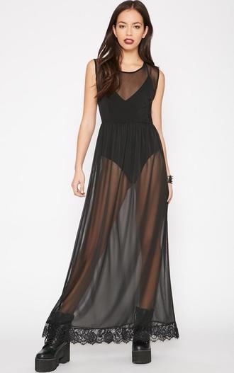 dress black dress pretty little thing