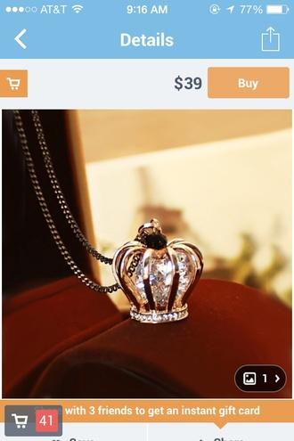 jewels crown necklace jewelery pretty cute princess diamonds