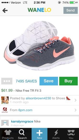 shoes nike nike free run leopard print pink coral
