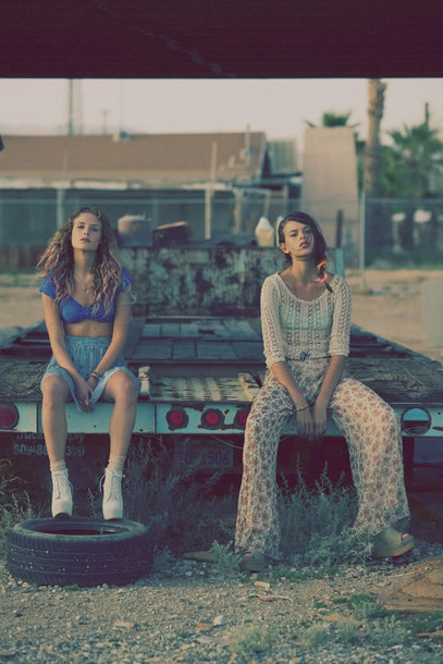 floral lace hippie boho wild brown pants yellow pants