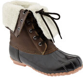 shoes,sporto,booties,boots,wellies,brown leather boots,fleece,duck boots