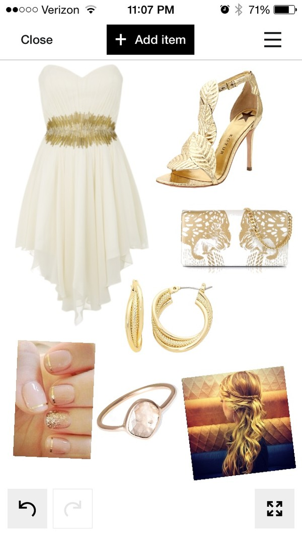 dress gold polyvore