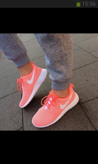 shoes orange white nike air