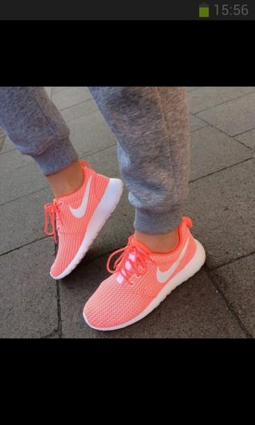 shoes orange white nike air roshe runs nike roshe run nike euro german nike roshe run running shoes shorts