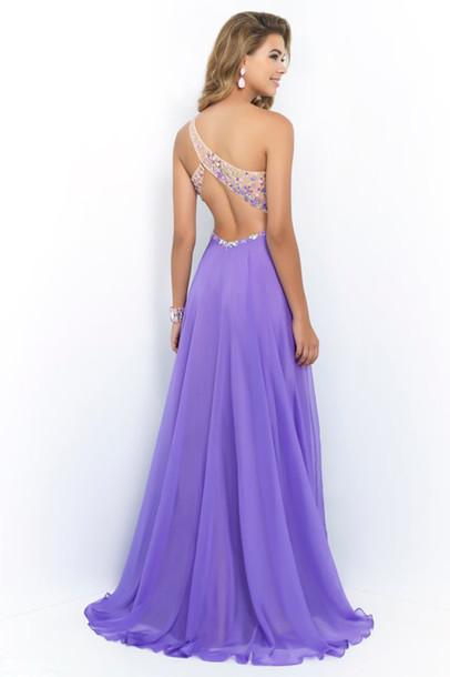 Purple Dress Prom Dress 2014 Dress Formal Dress Dress One