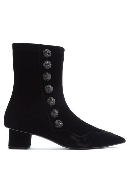 RUE ST. velvet ankle boots street ankle boots velvet black shoes