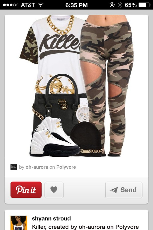 swag camo shirt killers white shirt leggings