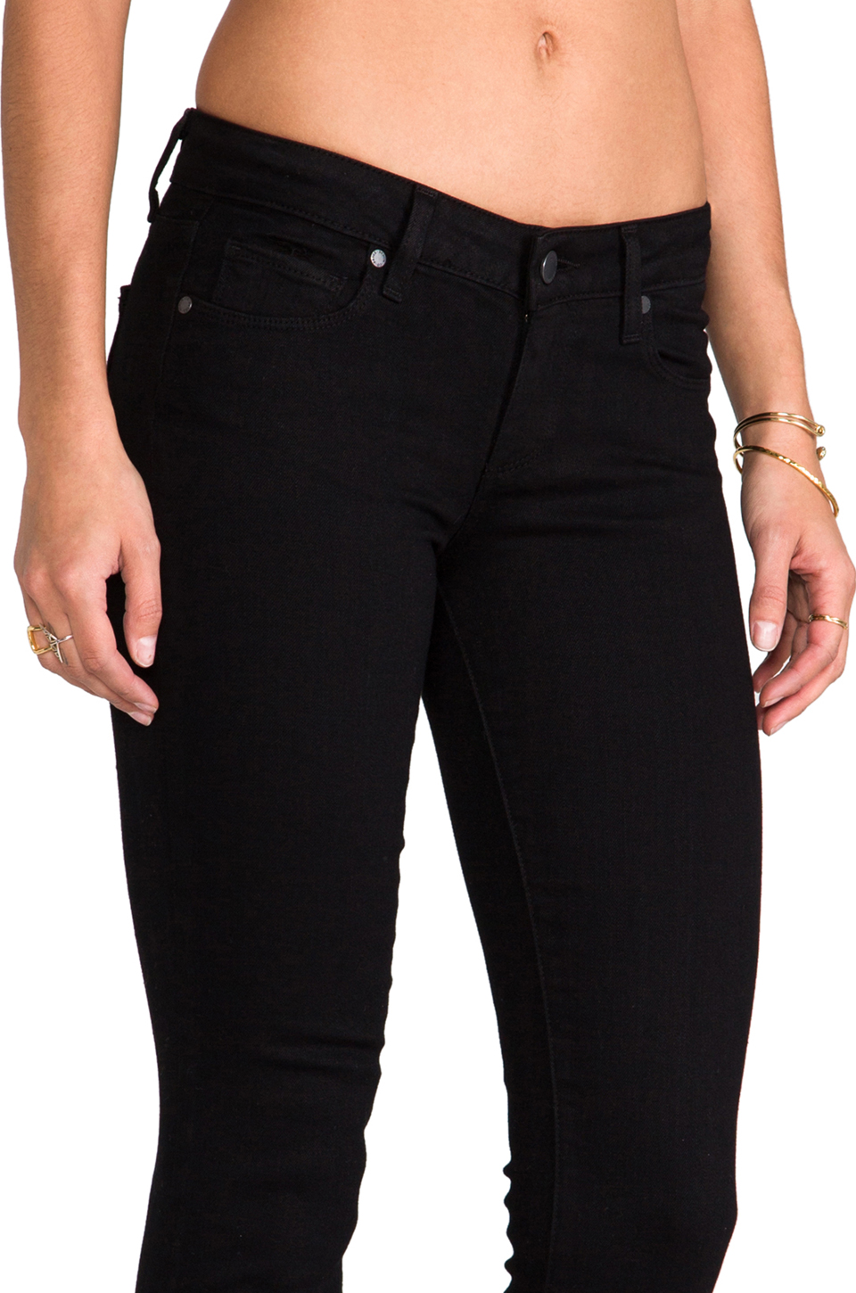 Paige denim skyline skinny in black ink from revolveclothing.com