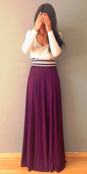 cute dress summer outfits skirt clothes purple dress maxi skirt maxi dress all cute outfits top girly