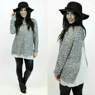 sweater urban day peekaboo cut out sparkle knit