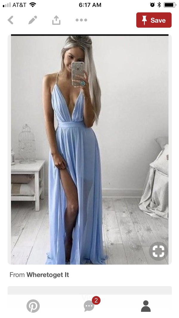 dress light blue blue blue dress prom dress long prom dress