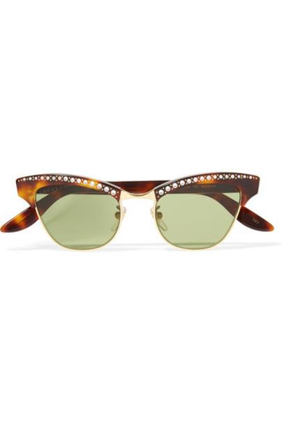 gucci embellished sunglasses gold