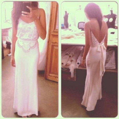 Line backless long prom dresses, evening dresses