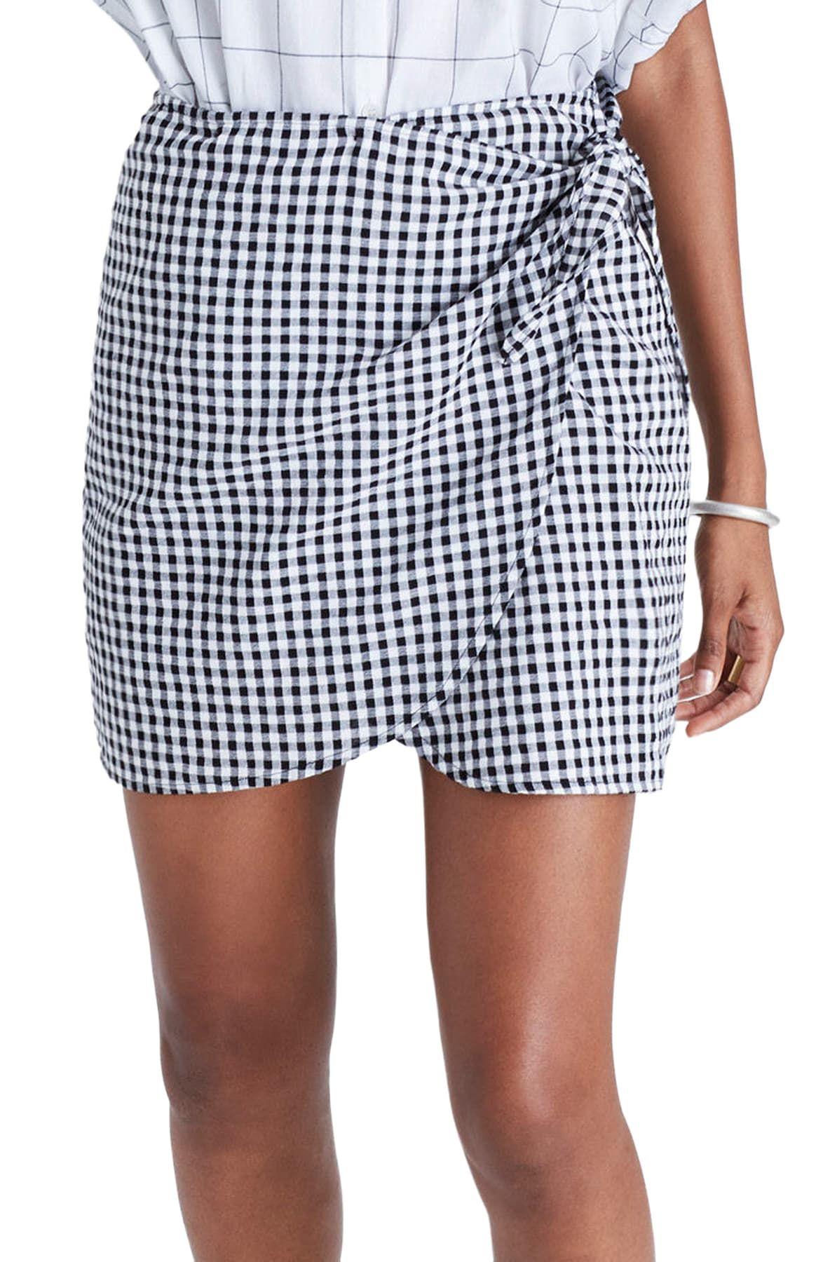 Madewell | Gingham Wrap Miniskirt | Nordstrom Rack