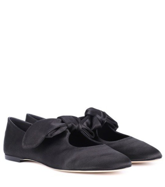 The Row satin black shoes