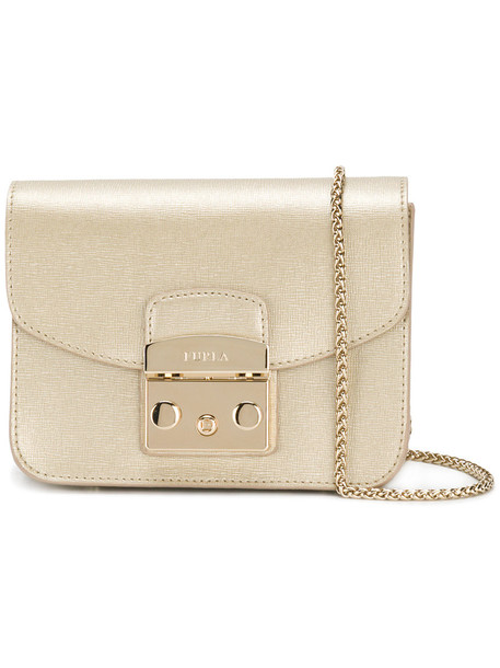 Furla women bag leather grey metallic