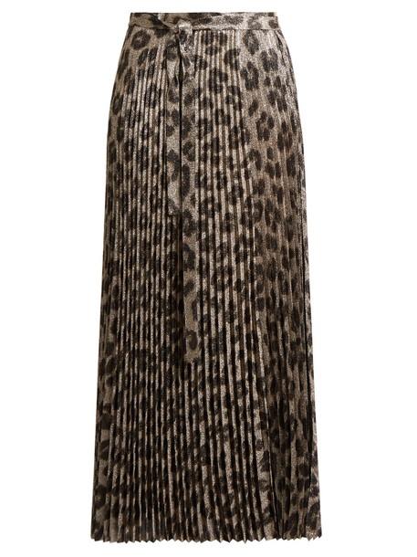Haider Ackermann skirt pleated skirt pleated print black