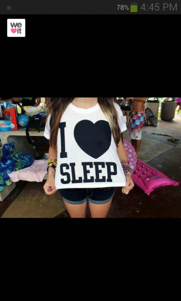 t-shirt black and white i ? sleep