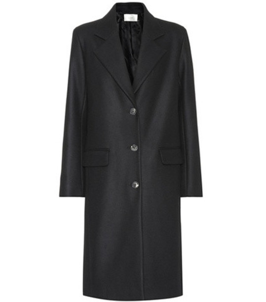 coat wool black