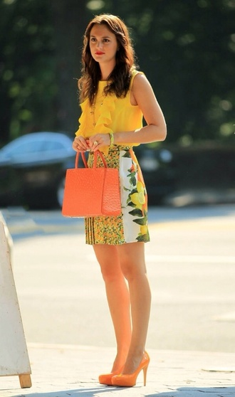 bag blair waldorf leighton meester gossip girl blouse skirt