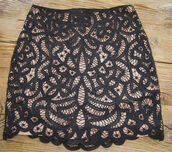 lace,skirt,the kooples,brown skirt,black skirt