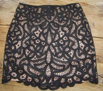 lace skirt the kooples brown skirt black skirt