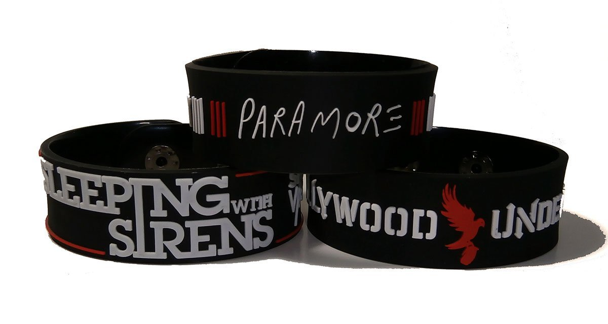 Amazon.com: paramore and sleeping with sirens and hollywood undead bracelet wristband