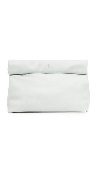 pale clutch blue bag