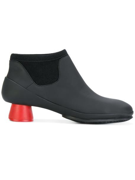 Camper heel women heel boots leather black shoes