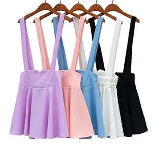 Candy color pink brace skirt purple suspender skirt five colors from Sweetbox Store on Storenvy