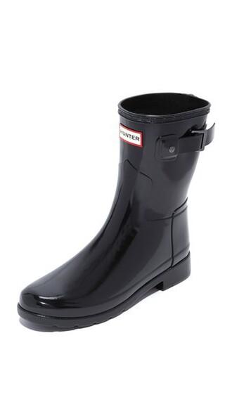short boots black shoes